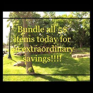 BUNDLE ALL 5$ ITEMS FOR AN EXTRAORDINARY SAVINGS